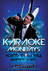 Flier for Monday night karaoke at the Lookout.